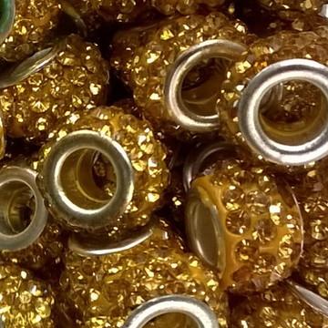 Berloque strass dourado
