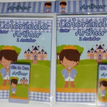 Kit de Colorir Personalizado Principe