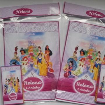 Kit de colorir Personalizado Princesas D