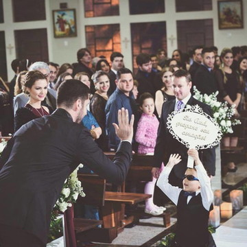 Placa para entrada dos noivos