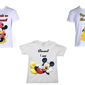 Kit de Camisetas Personalizadas Mickey