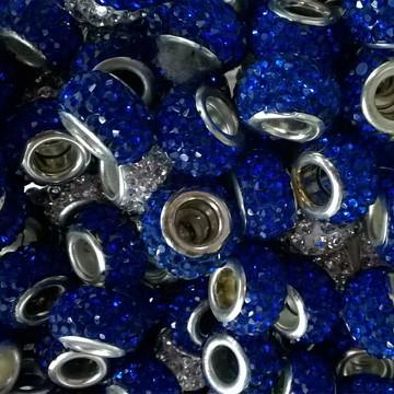 Berloque strass azul