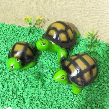 Tartarugas Família Trio Decoração
