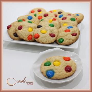 Cookies La Fiesta - Chocolate Branco com Confeitos ou M&Ms