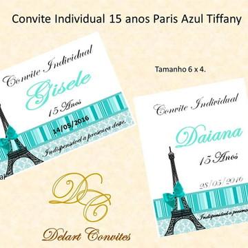 Convite individual 15 anos paris