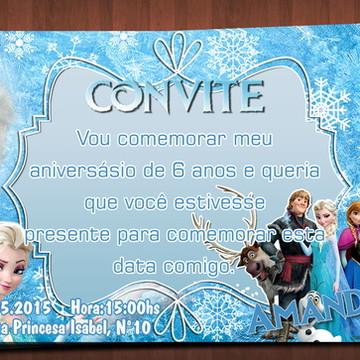 Convite de Aniversário - Frozen