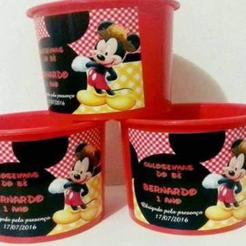 Balde de pipoca personalizado Mickey
