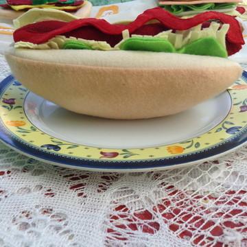 HOT DOG DE FELTRO- CACHORRO QUENTE