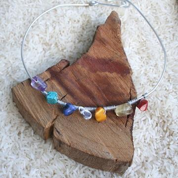 Colar Precioso Chakras Pedras Naturais
