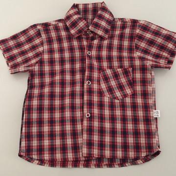 73556a28ee Camisa infantil com estampa xadrez