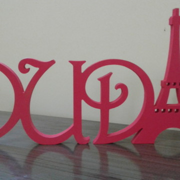 Tema paris - Eiffel - Letras MDF