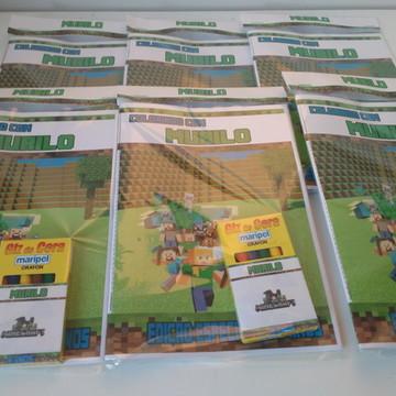 Livro de colorir com GIZ Minecraft