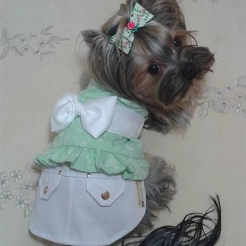Vestido Batinha com Saia sarja