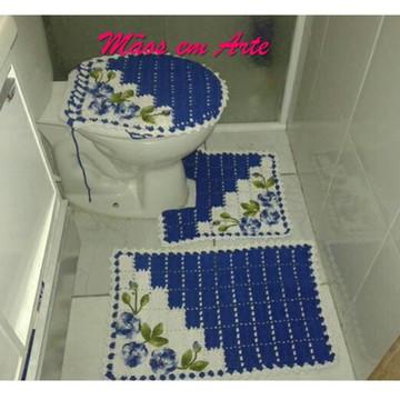 Jogo de Banheiro em croche 3 peças