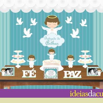 Kit Festa Decoração Completa Batizado