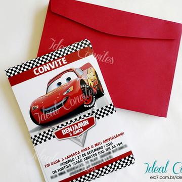 Convite - Tema Carros