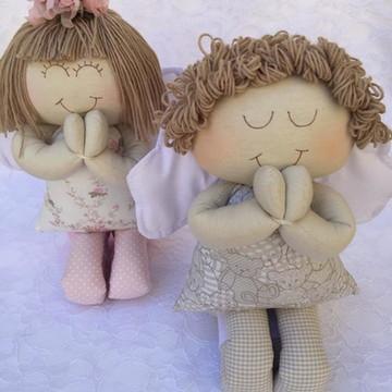 Molde casal anjinho rezando