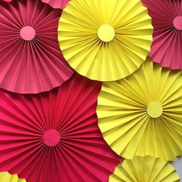 FIORATAS Leque Collezione Pink & Yellow