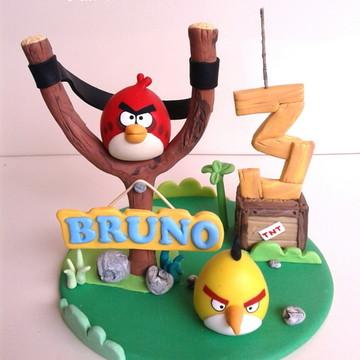 Topo de bolo Angry Bird
