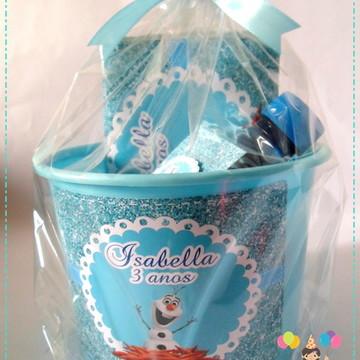 Frozen Kit cinema balde e rótulos
