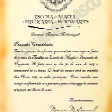 Carta convite Hogwarts