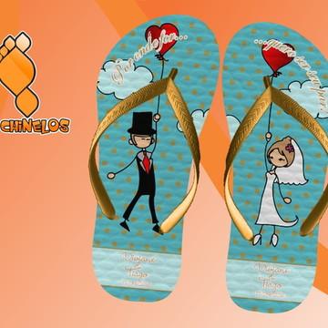 chinelos personalizados casamento
