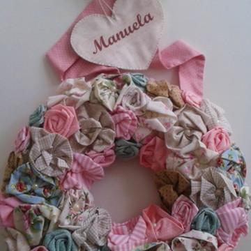 Porta Maternidade Flores tecido-Manuela