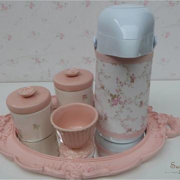Kit higiene Porcelana Rosa velho