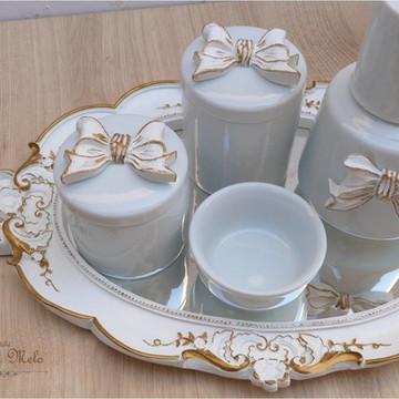 Kit higiene porcelana Laço Provençal