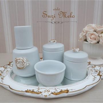 Kit higiene Porcelana rosas Provencal