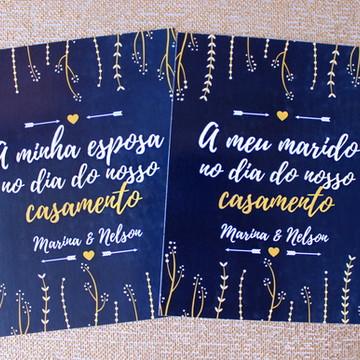 Mensagem a meu marido - Azul Marinho