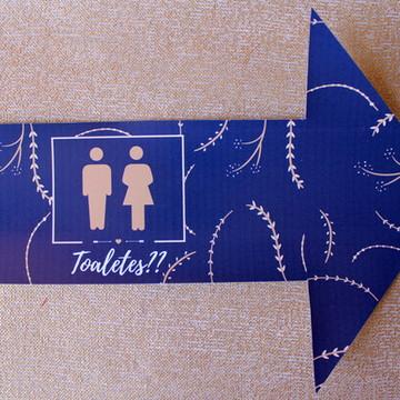 Sinalização Banheiro - Azul Marinho