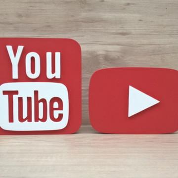 Combo Mídias Sociais - Simbolo YouTube e YouTube Play