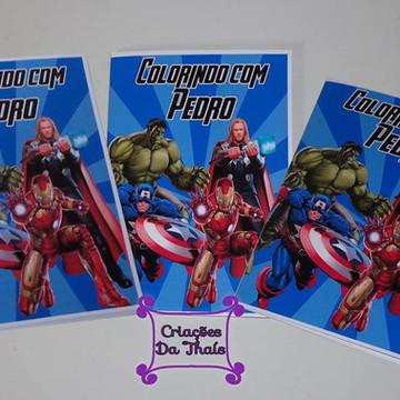 Revista de colorir Os Vingadores