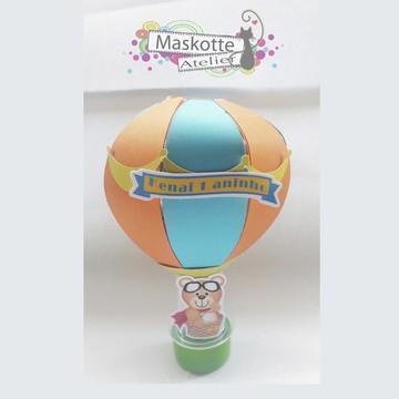 Tubete balão ursinho aviador