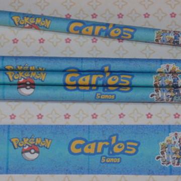 Lápis Personalizado - Pokemón