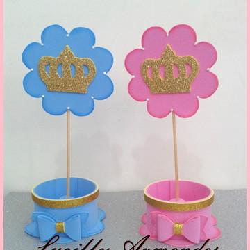 Centro de mesa Principe e Princesa