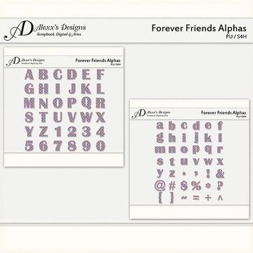 Kit Digital Forever Friends Alphas