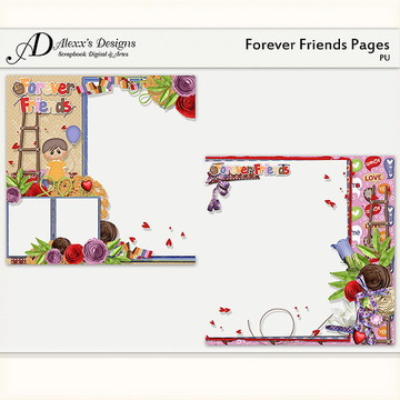 Kit Digital Forever Friends Quick Pages