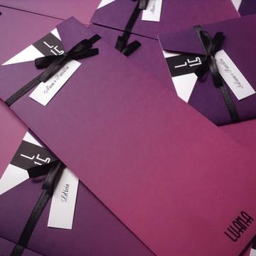 Convite 15 anos vertical pink degradê