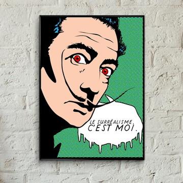 Quadro pop art Salvador Dalí