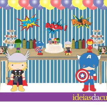 Kit Festa Decoração Completa Vingadores