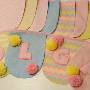 Bandeirolas de tecido para decoração