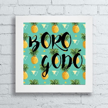 Quadro pop art Borogodó