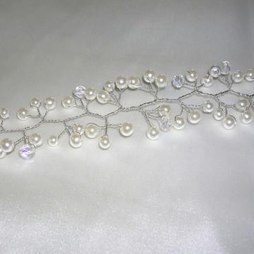 Fio em pérolas para noiva CR411 - 50 cm.