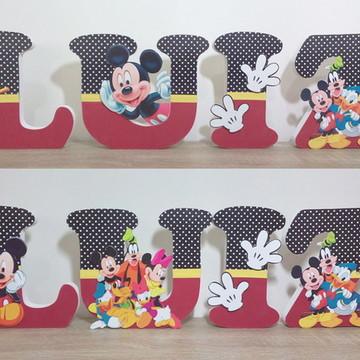 Letras Turma do Mickey decoradas