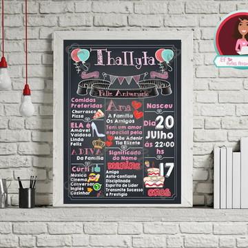 Chalkboard Festa de Aniversário Digital