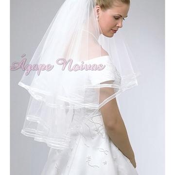 Véu Noiva Duplo 2 Camadas Barrado veu15f