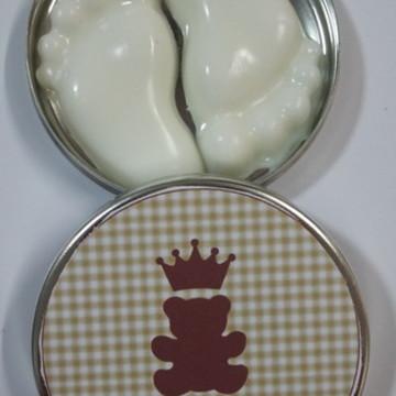 Pezinho de sabonete na latinha