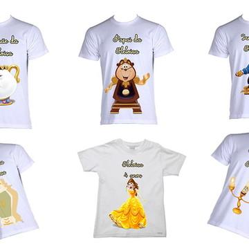 Kit de Camisetas Bela e a Fera